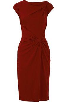 Michael Kors  merlot draped crepe-jersey