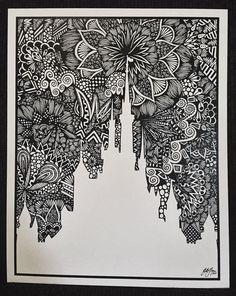 Zentangle art - 40 Absolutely Beautiful Zentangle patterns For Many Uses – Zentangle art Doodle Art Drawing, Zentangle Drawings, Mandala Drawing, Zentangle Patterns, Mandala Art, Art Drawings, Drawing Ideas, Disney Kunst, Disney Art