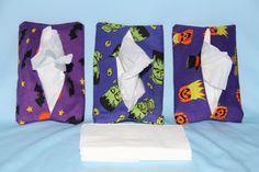 Halloween purple tones purse tissue holder set of 3 covers-free ship to USA #Handmade