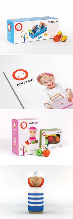 Brand Identity, packaging and print design for wooden toy company 'Mentari'. Designed by Hunt Hanson