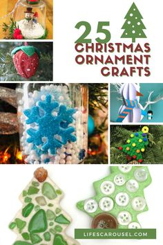 Check out these 25 holiday ornament ideas for kids. These Christmas craft ideas for kids make the perfect gift for friends and family. They are quick and easy holiday crafts that kids will love. Perfect for classroom parties or holiday parties too. Kids love homemade ornaments, so give these a try today!
