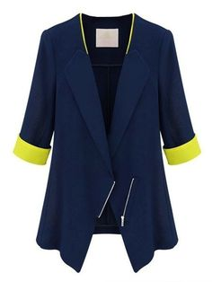 Lapel With Zips Assorted Colors Blazer Only $16.95 USD More info...
