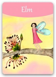 Bach Flower: Elm - Take on responsibility for your life - when you feel overwhelmed - take elm and than the next step.  More Bach Flower Cards by Susanne Winberg: www. bach-flowers-online.org