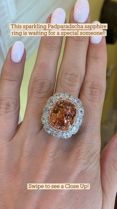 Pink Diamond Engagement Ring, Vintage Style Engagement Rings, Wedding Rings Vintage, Wedding Rings For Women, Diamond Wedding Rings, Pink Sapphire Ring, Beautiful Rings, Glitters, Unique Vintage