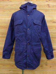 Vintage mountain parka EMS Navy Blue men's M size mountain parka mens clothing vintage clothes mountain parka pre-owned