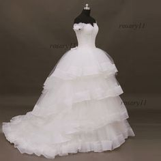 Unique Tulle Strapless Tiers Floor length dress for by rosary11