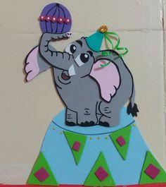 #Elefante #EVA #Artesanato #DIY #Circo #Diversão #Decoração