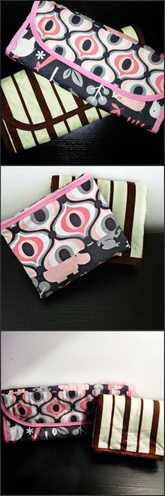 Diaper Changing Pad Tutorial. It folds 2 ways. Cool!......I have a ton of different patterns, I'm going to have to see which one I like best!