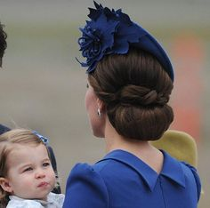 Canada Tour, Day 1, Victoria, British Columbia, September 24, 2016-Princess Charlotte and her mother the Duchess of Cambridge