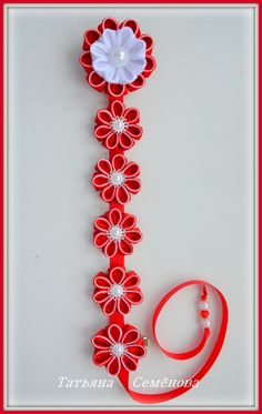 Фотография Quilling Flowers, Ribbon Crafts, Fabric Flowers, Washer Necklace, Wraps, Bows, Album, Projects, Design