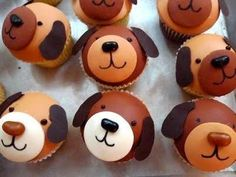 "pupcakes! Taylor used to call cupcakes, ""pupcakes"".  She wants a dog b-day party-these would be cute!"