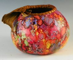 Explosion of Color by Judy Richie, Red Cloud Originals Member Texas Gourd Society