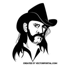Lemmy Kilmister vector portrait.