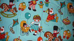 Vintage Children's fabric by Moygashel
