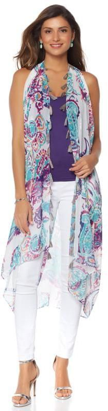 Colleen Lopez Collection Colleen Lopez Wear Anywhere Tassel Vest