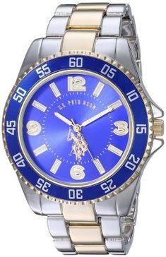 7e0ea5c0617 U.S. Polo Assn. Men s Quartz and Alloy Two Toned Casual Watch USC80514 -  70% OFF - Shop Watches Online - VipBrands