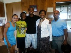 Family vacation to visit my mother and family. Pictured from left to right is Alexa, Marcus, Darrien, Gloria and Dr. Eric Bailey. Marcus and Alexa are of the same age group and played together as younger children.
