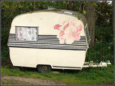 It even has a painted rose on it! Thomson Mini Glen Vintage Caravan (by…