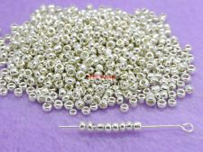 Wholesale 1000 Pcs Silver Color Glass Spacer Beads 3mm Jewelry Making