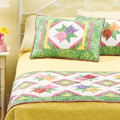 Quilted Bed Runners & shams