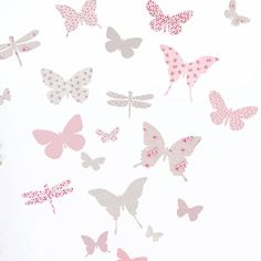 Butterfly wall stickers made with a range of floral, gingham check and polkadot fabric patterns.The design is available in 2 colourways: 'vintage pink & aqua' or 'vintage pink & warm grey'. Buy one set to decorate a small wall or buy two sets at a special price to cover a larger area. The stickers are easily applied - just peel and stick to walls, windows, tiles etc. And while most wall stickers are made of vinyl, ours are made of fabric adhesive so they can be removed, repositioned ...