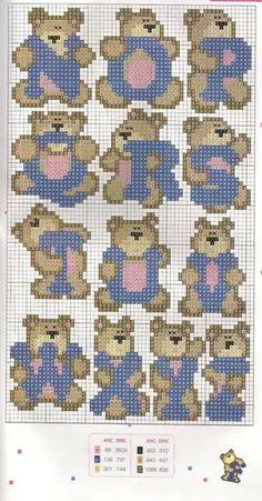 Teddy Alphabet Pattern N-Z