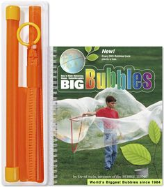 """Bubble Thing BIG BUBBLES Book - 2017 Edition - """"How To Make Monstrous Huge Unbelievably BIG BUBBLES"""". Send giant bubbles flying (even 20-footers or more), amaze your friends, and scare the neighbors. Huge, easy, outdoor fun for kids ages 6 to 96. This is the world-famous Bubble Thing and BIG Bubbles book by architect David Stein, who invented giant bubbling in 1984 and blew the world's first 50-footer (Guinness Record, 1986 -1995). Often imitated, the Bubble Thing still bubbles biggest by..."""