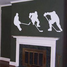 Hockey silhouettes