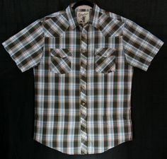 Memphis Men's Short Sleeve Shirt - Brown   $35.00