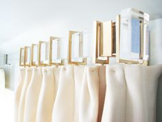 Gretchen Everett Hardware and Home - Home Very chic, modern yet glam curtain rod in lucite. Cost for 115 inch length?