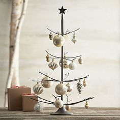 Bronze with Brass Solder Ornament Tree in Decor | Crate and Barrel-   soooo cute, I want one!