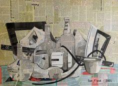 """Saatchi Art Artist Sue Flask; Collage, """"Still Life - 2001"""" #art"""