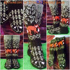 Foxforest by Titta J's Fantasy socks