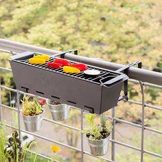 Balcony Railing Barbecue by Esschert   MONOQI #bestofdesign