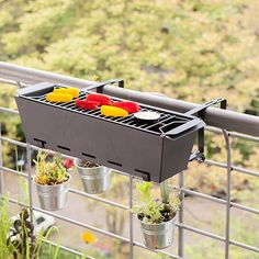 Balcony Railing Barbecue by Esschert | MONOQI #bestofdesign
