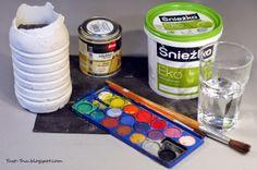 Pomalowany wazon z gipsu - DIY