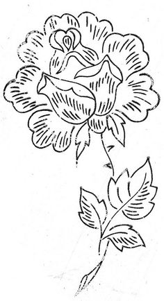A rose (hand embroidery pattern/transfer) by Bits of Stitching!, via Flickr