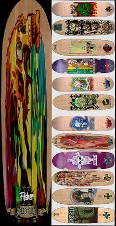 #skateboardart #deckart #fisherstudios #rockyfisher #norcalunderground…
