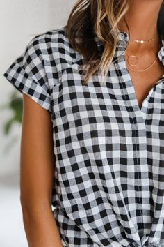 Happy Gingham Top
