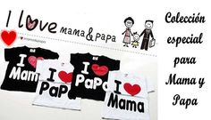 material: Words meaning is I love Mom and I love Dad color:black/white I Love My Father, I Love My Dad, Father And Son, Family Tees, Mamas And Papas, Kids Store, Baby Accessories, Baby Care, Boy Or Girl