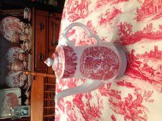 Enoch Woods Transferware Teapot