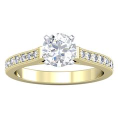 0.35ctw Yellow Gold Vintage Ring Setting