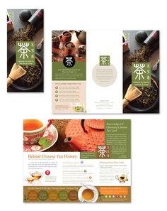 Chinese Tea House Tri Fold Brochure Template Chinese tea house tri ...