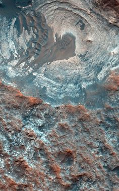 Layers and Dark Dunes on the Surface of Mars                                                                                                                                                                                  This image of a circular depression on the surface of Mars was acquired on Jan. 5, 2015 by the High Resolution Imaging Science Experiment (HiRISE) camera on NASA's Mars Reconnaissance Orbiter (MRO). The spacecraft has been orbiting Mars since March 2006 and completed its…
