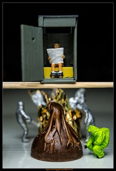 Chocolate terrorist: Inside the terrorist's lair... somewhere near Willy Wonka's factory....