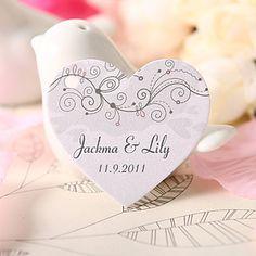 personalizado coração tag favor em forma - alegria (conjunto de 60) – BRL R$ 31,86