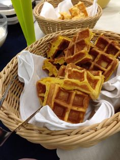 Belgian waffles for Special Breakfast. It's just baked!!