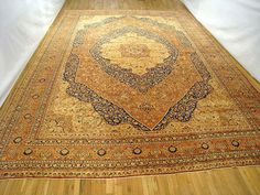 "Persian: Floral 20' 6"" x 14' 1"" Antique Tabriz at Persian Gallery New York - Antique Decorative Carpets & Period Tapestries"
