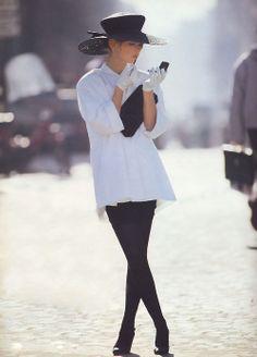 Vogue UK, February 1990, Photographer Neil Kirk, Model Gretha Cavazzoni
