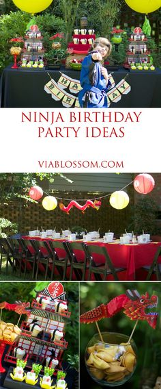 Ninja Birthday Party Ideas for a super fun Karate Party! Lots of Asian inspired decorations for a boy birthday party!